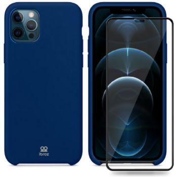 Ibroz iPhone 12 Pro Max Coque bleu nuit