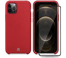 Coque Ibroz  iPhone 12 Pro Max Coque rouge