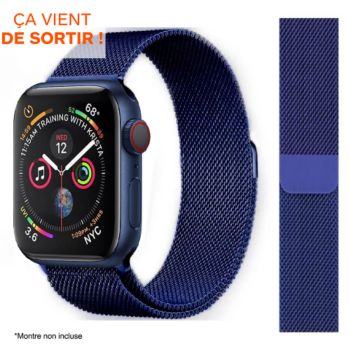 Ibroz Apple Watch 40mm Maille bleu