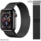 Bracelet Ibroz Apple Watch 40mm Maille noir