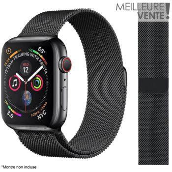 Ibroz Apple Watch 38/40/41mm Maille noir