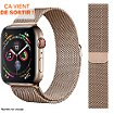 Bracelet Ibroz Apple Watch 40mm Maille gold