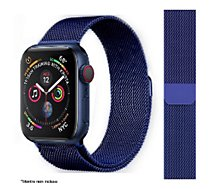 Bracelet Ibroz  Apple Watch 44mm Maille bleu