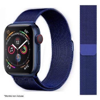 Ibroz Apple Watch 44mm Maille bleu