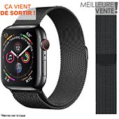 Bracelet Ibroz Apple Watch 44mm Maille noir