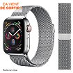 Bracelet Ibroz Apple Watch 44mm Maille gris