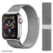 Bracelet Ibroz Apple Watch 44mm Maille gris