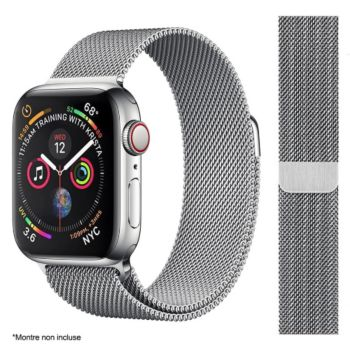 Ibroz Apple Watch 44mm Maille gris