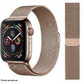 Bracelet Ibroz Apple Watch 44mm Maille gold