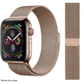Ibroz Apple Watch 44mm Maille gold
