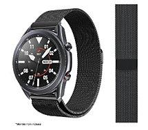 Bracelet Ibroz  Samsung/Huawei 20mm Maille noir
