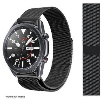 Ibroz Samsung/Huawei 20mm Maille noir