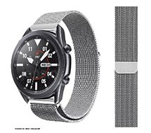 Bracelet Ibroz  Samsung/Huawei 22mm Maille gris