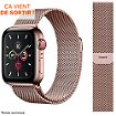 Bracelet Ibroz Apple Watch 40mm Maille rose gold