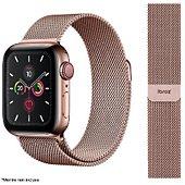 Bracelet Ibroz Apple Watch 44mm Maille rose gold