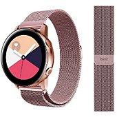 Bracelet Ibroz Samsung/Huawei 20mm Maille rose gold