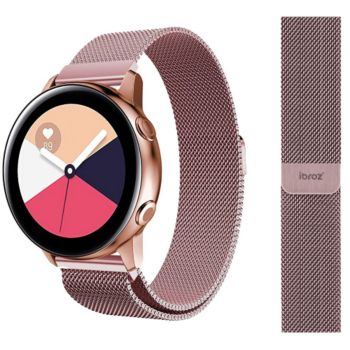 Ibroz Samsung/Huawei 20mm Maille rose gold