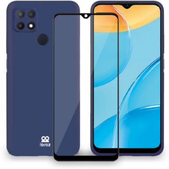 Ibroz Oppo A15 Coque Silicone bleu
