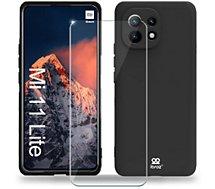 Coque Ibroz  Xiaomi Mi 11 Lite 4G/5G Coque noir