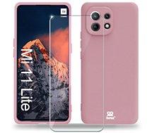 Coque Ibroz  Xiaomi Mi 11 Lite 4G/5G Coque rose
