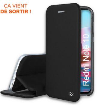 Ibroz Xiaomi Redmi Note 10/10s cuir noir
