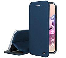 Etui Ibroz  Xiaomi Redmi Note 10/10s cuir bleu