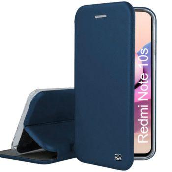 Ibroz Xiaomi Redmi Note 10/10s cuir bleu