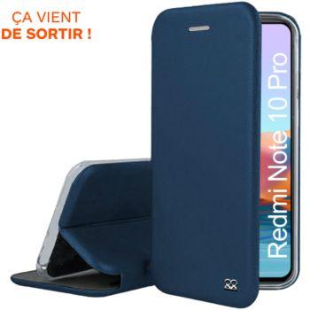Ibroz Xiaomi Redmi Note 10 Pro cuir bleu