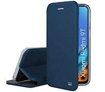 Etui Ibroz  Xiaomi Redmi 9T Etui cuir bleu