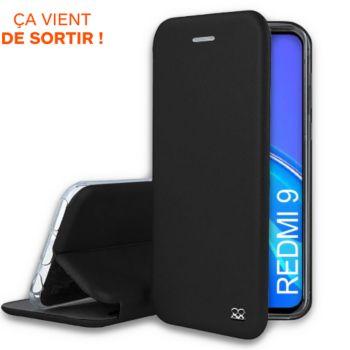 Ibroz Xiaomi Redmi 9 Etui cuir noir