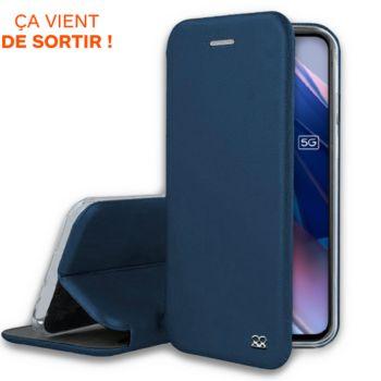 Ibroz Oppo Find X3 Lite Etui cuir bleu