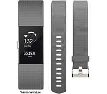 Bracelet Ibroz  Fitbit Charge 2 Silicone gris