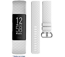 Bracelet Ibroz  Fitbit Charge 3/4 Silicone blanc