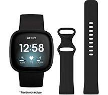 Bracelet Ibroz  Fitbit Versa 3/Sense Silicone noir
