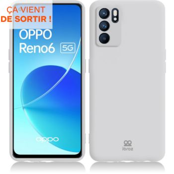 Ibroz Oppo Reno 6 Silicone blanc