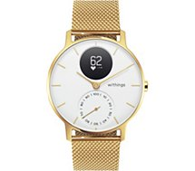 Montre connectée Withings  STEEL HR 36 GOLD Blanche
