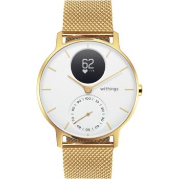 Withings STEEL HR 36 GOLD Blanche