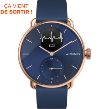 Withings Scanwatch rose Gold 38MM bleue