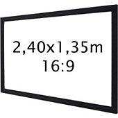 Ecran de projection Kimex sur cadre 2,40 x 1,35 m- Format 16:9
