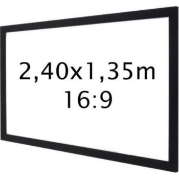 Kimex sur cadre 2,40 x 1,35 m- Format 16:9