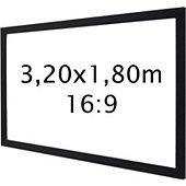 Ecran de projection Kimex sur cadre 3,20 x 1,80 m- Format 16:9