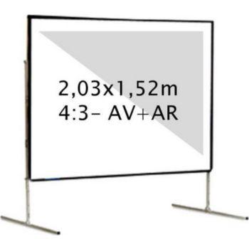 Kimex valise 2,03 x 1,52 m, 4:3- Toile AV + AR