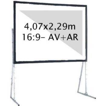 Kimex valise 4,07 x 2,29m, 16:9- Toile AV + AR