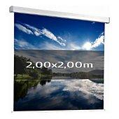 Ecran de projection Kimex manuel 2,00 x 2,00m (1/1)- Toile blanche