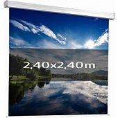 Ecran de projection Kimex manuel 2,40 x 2,40m (1/1)- Toile blanche