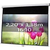 Ecran de projection Kimex manuel 2,20 x 1,38 m- Format 16/10