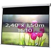 Ecran de projection Kimex manuel 2,40 x 1,50 m- Format 16/10