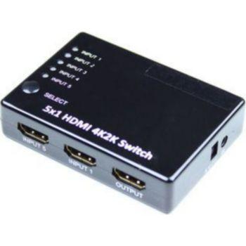 Kimex Switch HDMI 5 entrées- 1 Sortie,Ultra HD