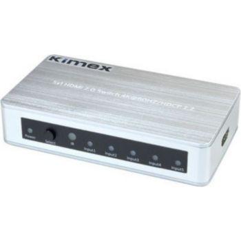 Kimex Switch HDMI 5 entrées- 1 Sortie HDMI2.0