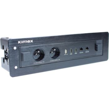 Kimex Boîtier encastrable RJ45,USB,HDMI,220V